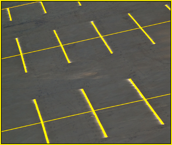 Yellow-Striped Parking Lot in Midland, TX