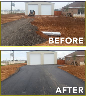 Before and After Asphalt Project in Midland, TX